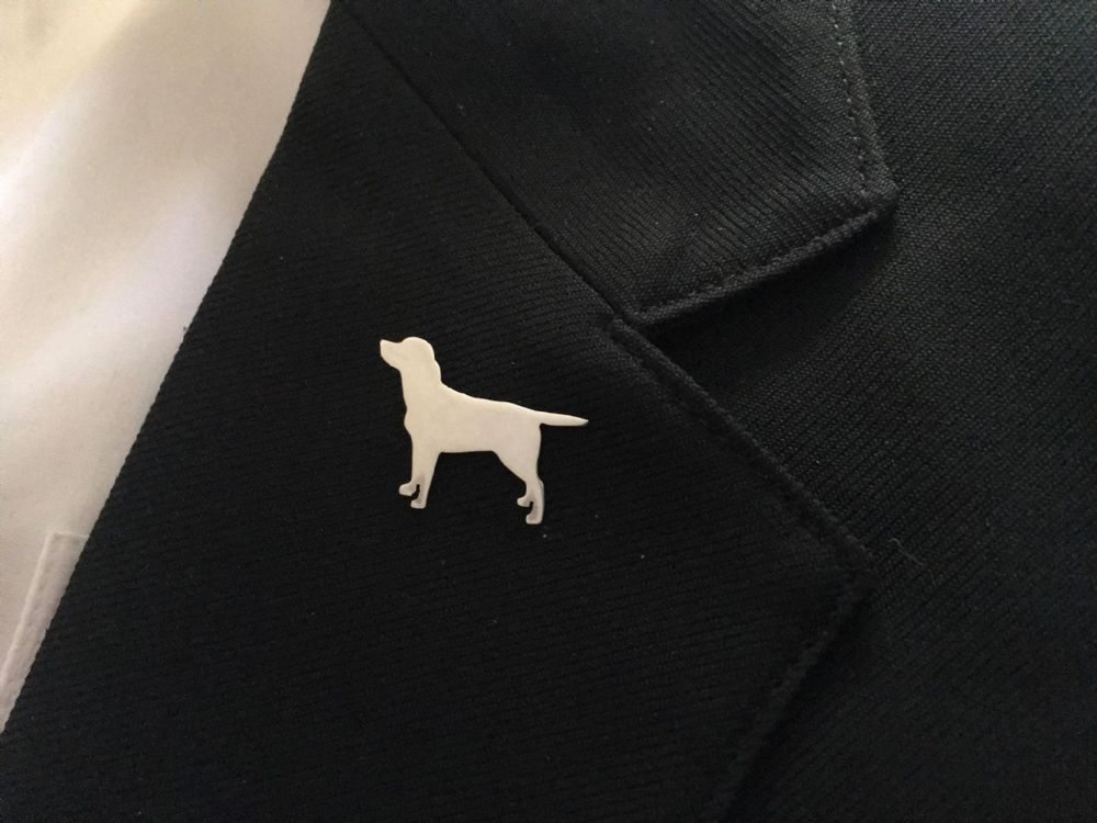 Labrador Lapel Pin Handmade in the UK by saw piercing